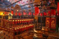 zwitek Hong kadzidłowa kong mężczyzna mo świątynia hong kong Zdjęcie Stock