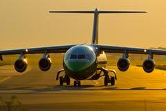 Zwitser bij de Luchthaven van Warshau Okecie. Royalty-vrije Stock Foto
