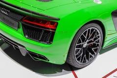 Zwitserland; Genève; 8 maart, 2018; Audi R8 Spyder V10 plus, rea Stock Foto's