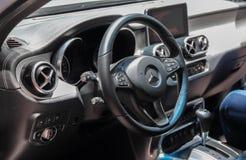 Zwitserland; Genève; 8 maart, 2018; Dashboard van Mercedes-Benz X Royalty-vrije Stock Foto