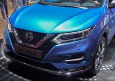 Zwitserland; Genève; 8 maart, 2018; De Nissan Qashqai-voorzijde; Th Stock Fotografie