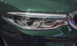 Zwitserland; Genève; 8 maart, 2018; Dichte omhooggaand van BMW Aanpassings royalty-vrije stock afbeelding