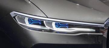 Zwitserland; Genève; 8 maart, 2018; Dichte omhooggaand van BMW-concept stock afbeelding