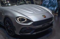 Zwitserland; Genève; 8 maart, 2018; Fiat Abarth 124 G T fron royalty-vrije stock fotografie
