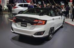 Zwitserland; Genève; 10 maart, 2018; Honda-Duidelijkheid; De 88ste Internationale Motorshow in Genève van achtste tot 18 van Maar stock foto's