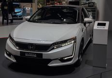 Zwitserland; Genève; 10 maart, 2018; Honda-Duidelijkheid; De 88ste Internationale Motorshow in Genève van achtste tot 18 van Maar royalty-vrije stock foto