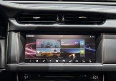 Zwitserland; Genève; 8 maart, 2018; Jaguar-het I-Tempo dashboard royalty-vrije stock fotografie