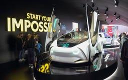 Zwitserland; Genève; 8 maart, 2018; Toyota-Concept i, voorkant Stock Afbeeldingen