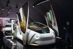Zwitserland; Genève; 8 maart, 2018; Toyota-Concept i, voorkant Stock Foto's
