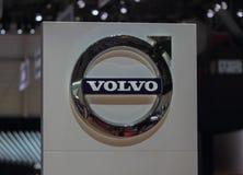 Zwitserland; Genève; 8 maart, 2018; Volvo-embleem; 88ste Interna royalty-vrije stock foto's