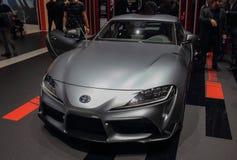 Zwitserland; Gen?ve; 9 maart, 2019; Toyota gr. Supra; De 89ste Internationale Motorshow in Gen?ve van zevende tot 17 van Maart, 2 royalty-vrije stock afbeeldingen