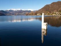 Zwitserland - Meer van Lugano. Stock Afbeeldingen