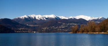 Zwitserland - Meer van Lugano. Stock Foto