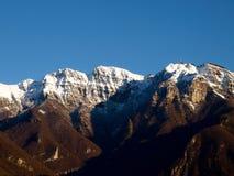 Zwitserland - Meer van Lugano. Mening over de bergen. Royalty-vrije Stock Foto's