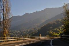 Zwitserland, op de weg Royalty-vrije Stock Afbeelding