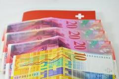 Zwitsers bankbiljet Royalty-vrije Stock Afbeelding
