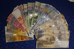 Zwitsers Contant geld Royalty-vrije Stock Afbeelding