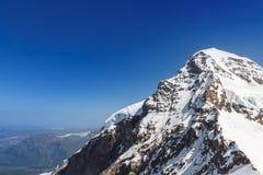 Zwitsers de berglandschap van Alpen, Jungfrau, Zwitserland Royalty-vrije Stock Foto's