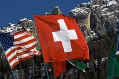 Zwitsers en de V.S. Stock Fotografie