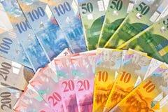 Zwitsers Geld Stock Foto's