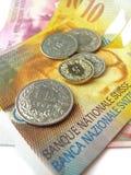 Zwitsers geld Stock Afbeeldingen