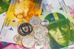 Zwitsers geld stock fotografie