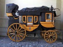 Zwitsers historisch vervoer in Zürich, Zwitserland Royalty-vrije Stock Foto