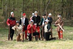 Zwitsers middeleeuws leger stock foto