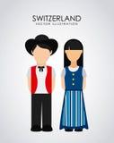 Zwitsers ontwerp stock illustratie