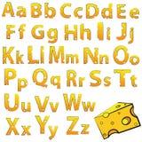 Zwitsers vectordieAlfabet van Kaas wordt gemaakt vector illustratie