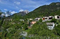 Zwitserse alp-Lavin Royalty-vrije Stock Fotografie