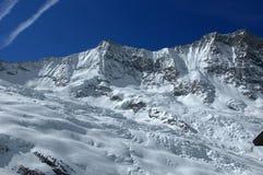 Zwitserse Alpen: Taschhorn en Dom Stock Afbeelding