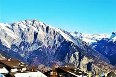 Zwitserse Alpen, toppen stock fotografie