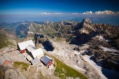 Zwitserse alpesmening van Säntis-piek Stock Afbeelding