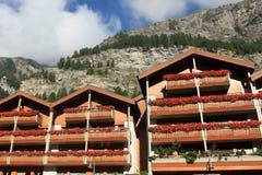 Zwitserse aplinehuizen Royalty-vrije Stock Afbeelding