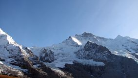 Zwitserse Berg Jungfrau Stock Afbeeldingen