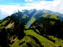 Zwitserse bergen - Alpstein Appenzell stock foto's