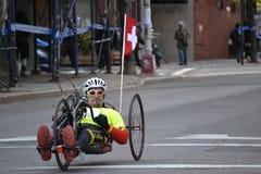 Zwitserse de Stadsmarathon 2014 van Handcycle New York Stock Foto's