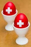 Zwitserse eieren Stock Fotografie