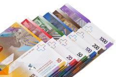 Zwitserse frank Stock Fotografie