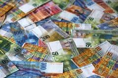 Zwitserse franken Stock Afbeeldingen