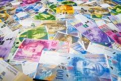 Zwitserse franken Royalty-vrije Stock Afbeeldingen