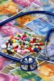 Zwitserse franken en tabletten Royalty-vrije Stock Afbeelding