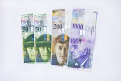 Zwitserse frankenbankbiljetten Royalty-vrije Stock Afbeeldingen