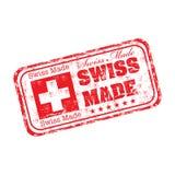Zwitserse gemaakte grunge rubberzegel Royalty-vrije Stock Foto