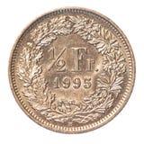 Zwitserse Halve Frank Royalty-vrije Stock Afbeeldingen