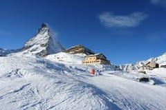 Zwitserse helling Zermatt royalty-vrije stock fotografie