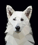 Zwitserse Herder Dog Low Poly Stock Illustratie
