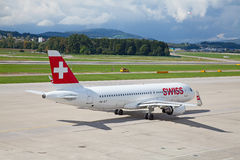 A-320 Zwitserse Lucht Stock Fotografie