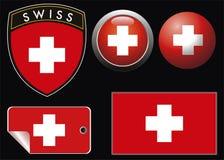 Zwitserse meest grest vlag Stock Afbeelding